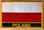 Poland Embroidered Flag Patch, style 09.
